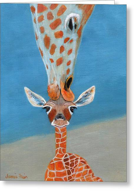 Caring Mother Greeting Cards - Mom Loves Me Greeting Card by Jamie Frier