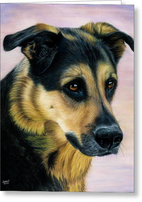 Guard Dog Pastels Greeting Cards - Moment in Time Greeting Card by Rebelwolf