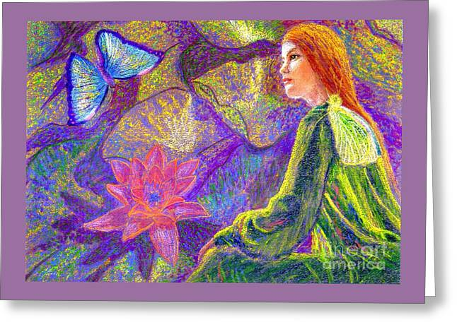 Meditation, Moment Of Oneness Greeting Card by Jane Small