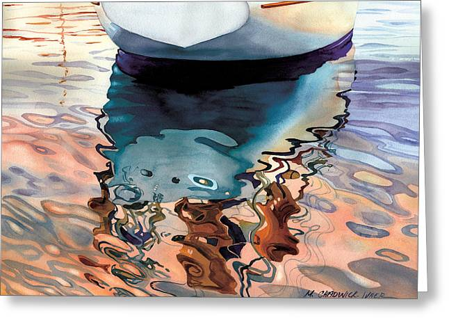 Recently Sold -  - Top Seller Greeting Cards - Moment of Reflection VIIa Greeting Card by Marguerite Chadwick-Juner