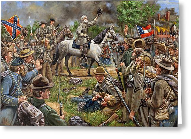 Confederate Flag Greeting Cards - Moment of Triumph Greeting Card by Mark Maritato