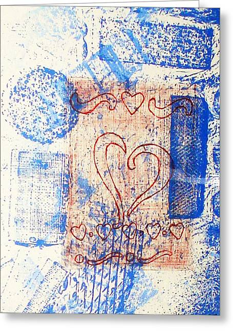 Printed Reliefs Greeting Cards - Moment Of Truth Greeting Card by Yael VanGruber