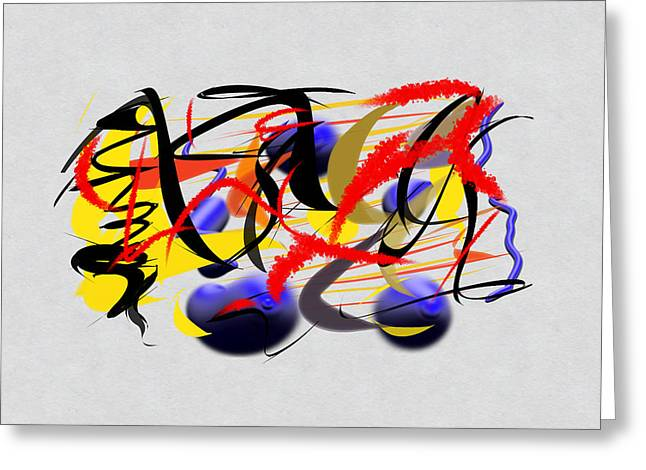 Abstract Digital Digital Art Greeting Cards - Momentous Greeting Card by Paulo Guimaraes