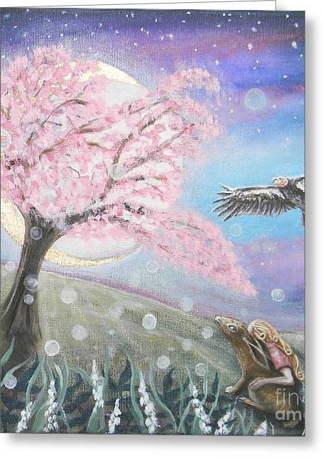 Go With The Flow Greeting Cards - Moments Illuminate Greeting Card by Liz Shewan