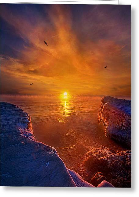 Lake Michigan Greeting Cards - Moments of Discovery Greeting Card by Phil Koch