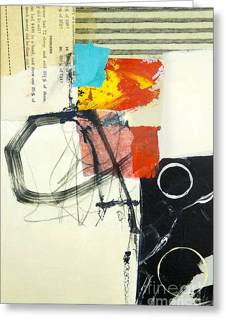 Abstractions Mixed Media Greeting Cards - Momentum Greeting Card by Elena Nosyreva