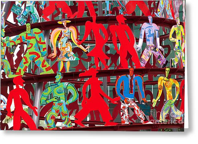 Steel Sculpture Greeting Cards - Momentum Greeting Card by Rick Piper Photography