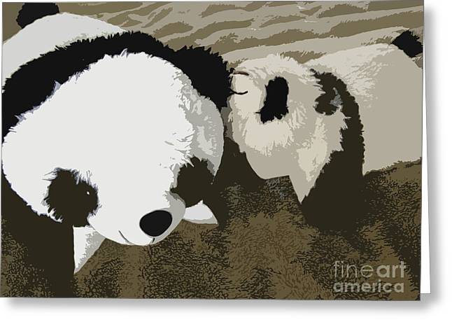 Pandute Digital Art Greeting Cards - Mommy Mommy I Will Tell You A Secret Greeting Card by Ausra Paulauskaite