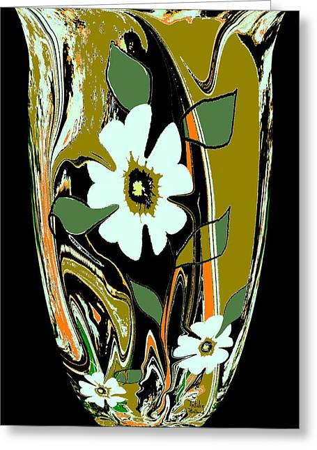 Italian Kitchen Mixed Media Greeting Cards - Moms Venetian Glass Vase 8 Greeting Card by Natalie Holland