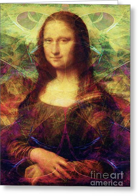 Master Piece Greeting Cards - Mona 20140128 Greeting Card by Wingsdomain Art and Photography