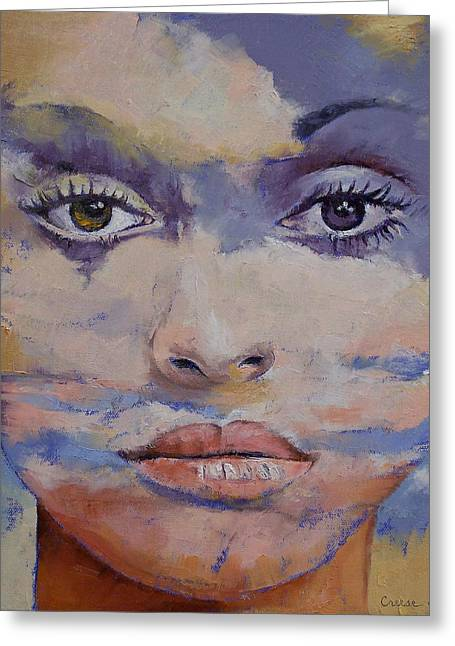 Mujer Greeting Cards - Mona Lisa Greeting Card by Michael Creese