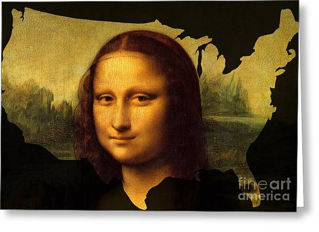 Mona Lisa United States Greeting Card by John Clark