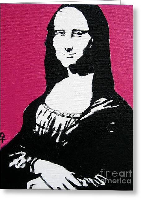 Vintage Painter Mixed Media Greeting Cards - Mona Lisa Greeting Card by Venus