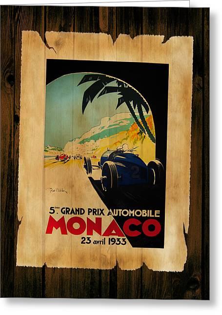 Monaco Greeting Cards - Monaco 1933 Greeting Card by Mark Rogan