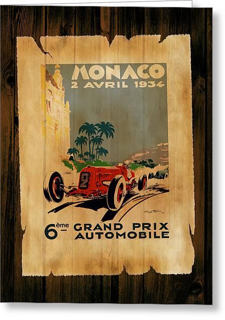 Monaco Greeting Cards - Monaco 1934 Greeting Card by Mark Rogan