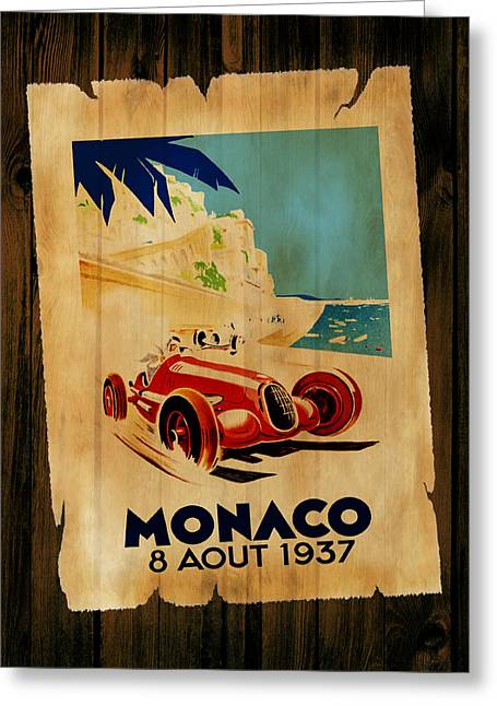 Monaco Greeting Cards - Monaco 1937 Greeting Card by Mark Rogan