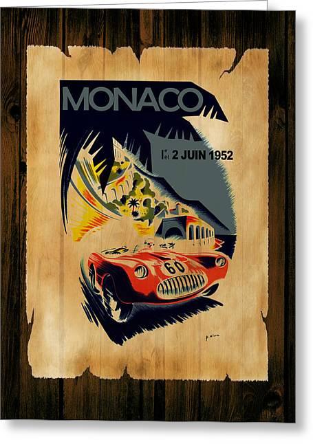 Monaco Greeting Cards - Monaco 1952 Greeting Card by Mark Rogan
