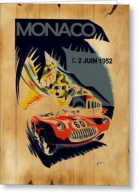 Monaco Greeting Cards - Monaco 1952 Greeting Card by Mark Rogan