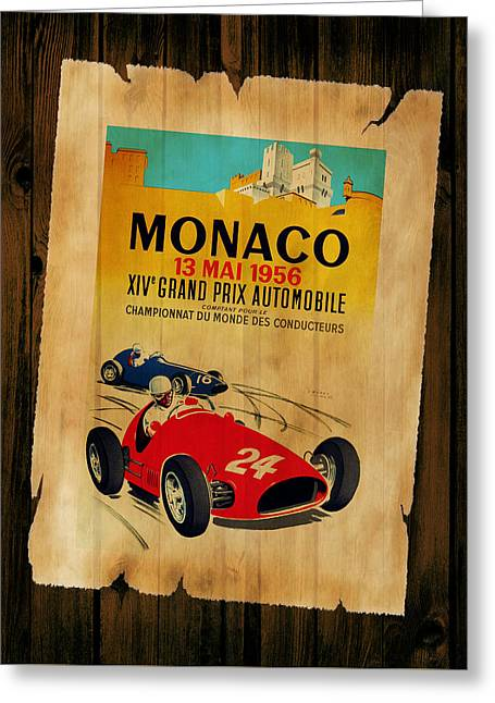 Monaco Greeting Cards - Monaco 1956 Greeting Card by Mark Rogan