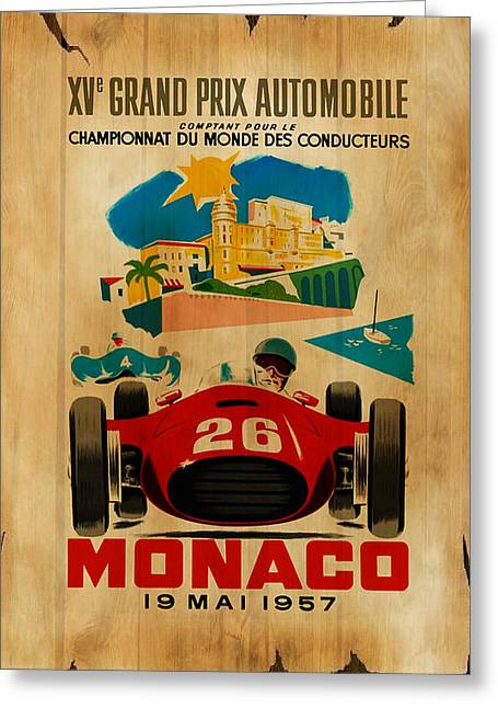Monaco Greeting Cards - Monaco 1957 Greeting Card by Mark Rogan