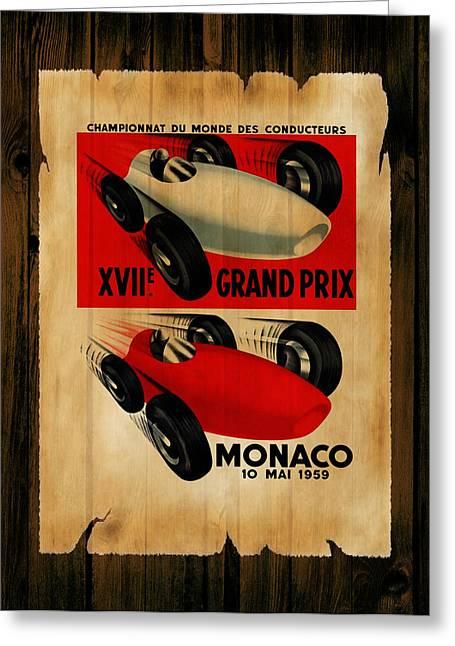 Monaco Greeting Cards - Monaco 1959 Greeting Card by Mark Rogan