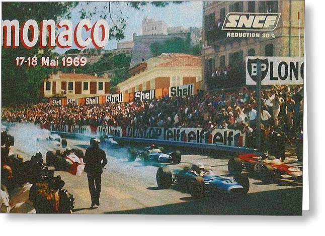 Monaco 1969 Greeting Card by Nomad Art And  Design