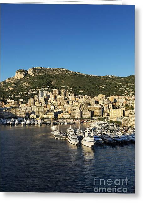 Monte Vista Greeting Cards - Monaco Harbor Greeting Card by John Greim
