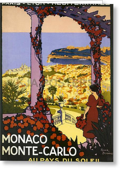 Monaco - Monte Carlo Greeting Card by Georgia Fowler