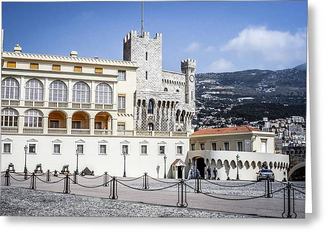 Monaco Palace Greeting Card by Chris Smith
