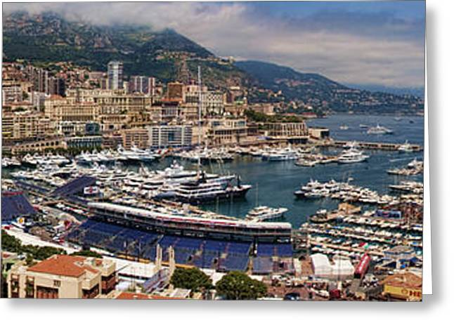 Carlos Greeting Cards - Monaco Panorama Greeting Card by David Smith