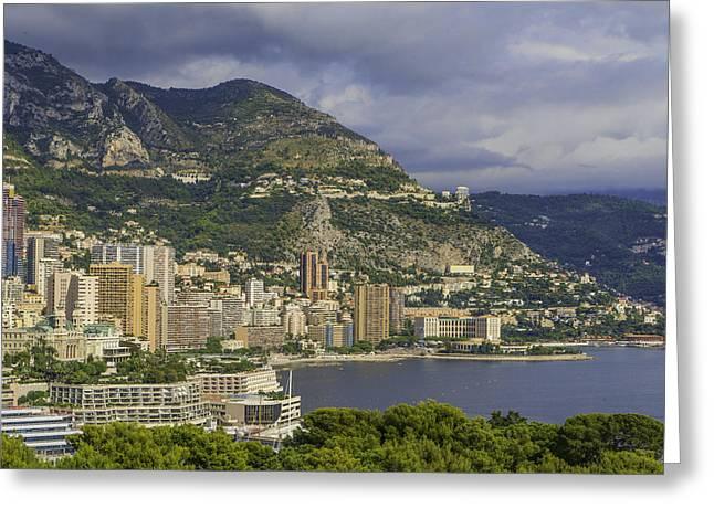 Azur Digital Greeting Cards - Monaco Greeting Card by Tony Moran