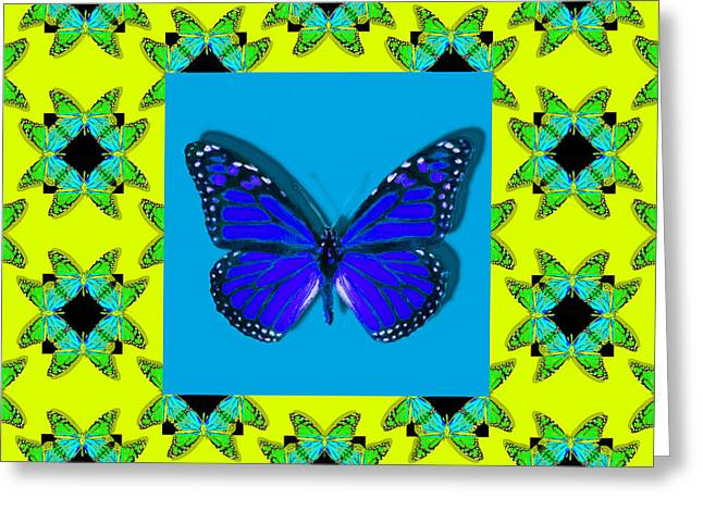 Royalty Digital Art Greeting Cards - Monarch Butterfly Abstract Window 20130203p68 Greeting Card by Wingsdomain Art and Photography