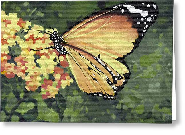 Fresh Green Greeting Cards - Monarch Butterfly Greeting Card by Natasha Denger
