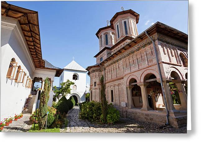 Monastery Manastirea Dintr-un Lemn Greeting Card by Martin Zwick