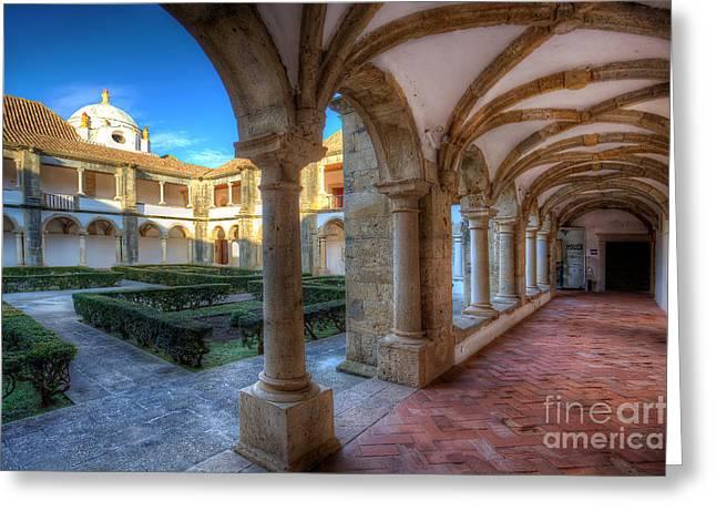 Monastery Of Nossa Senhora Da Assuncao Greeting Card by English Landscapes