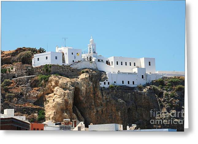Mandraki Greeting Cards - Monastery of Our Lady Spiliani Nisyros Greeting Card by David Fowler