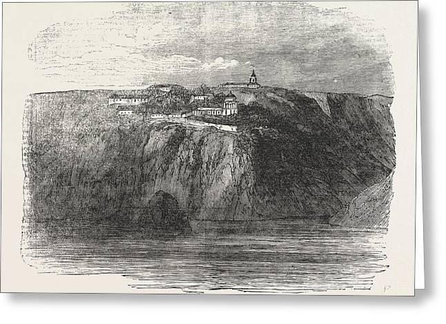 Monastery Of St. George Near Balaclava 1854 Greeting Card by English School
