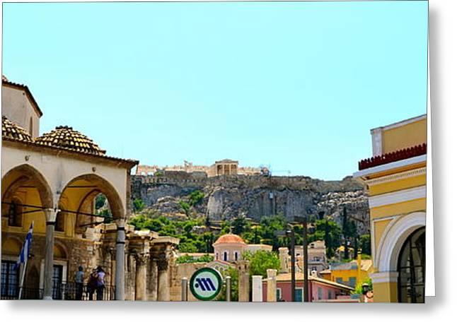 Monastiraki - Athens Greeting Card by Corinne Rhode