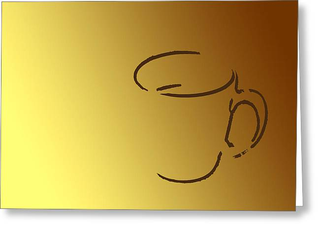 Two Coffee Cups Greeting Cards - Monday morning Greeting Card by Bob RL Evans