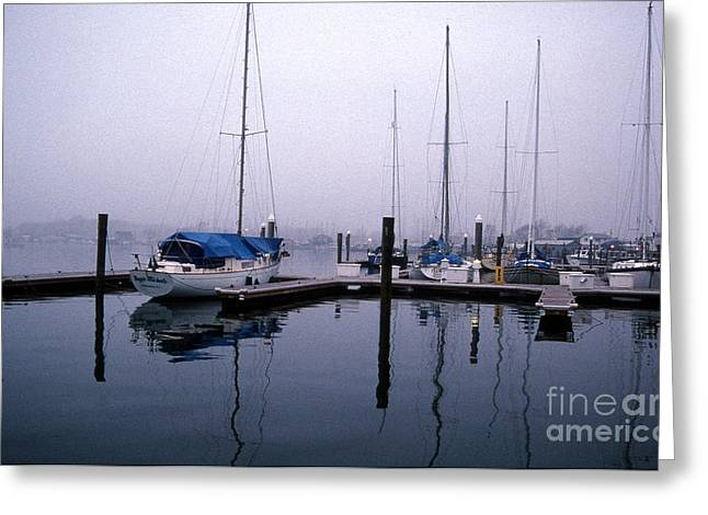 Sailboat Photos Greeting Cards - Monday Morning Greeting Card by Skip Willits