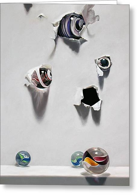 Marble Eye Greeting Cards - Breakthrough Greeting Card by Lisa  Ober