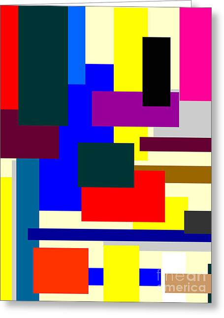 Abstractions Mixed Media Greeting Cards - Mondrian Composition Greeting Card by Adam Asar