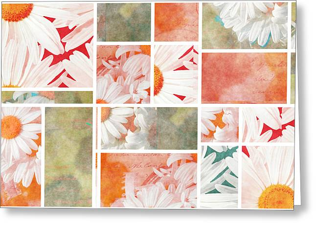 Mondrianity - Daisies 02 Greeting Card by Variance Collections
