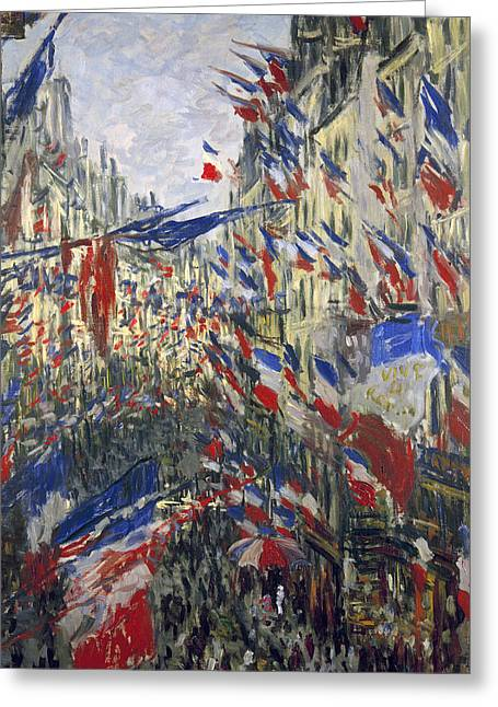 Carousel Collection Greeting Cards - Monet: Montorgeuil, 1878 Greeting Card by Granger