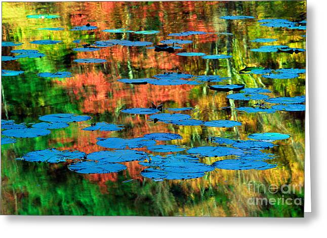 Monet Reflection Greeting Card by Inge Johnsson