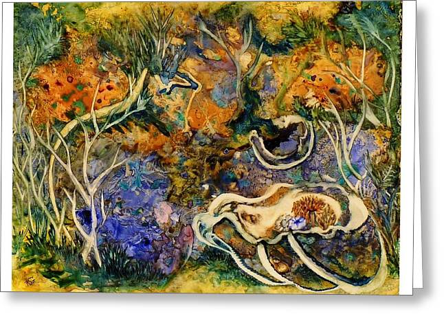Impressionist Greeting Cards - Monet Under Water Greeting Card by Kim Shuckhart Gunns
