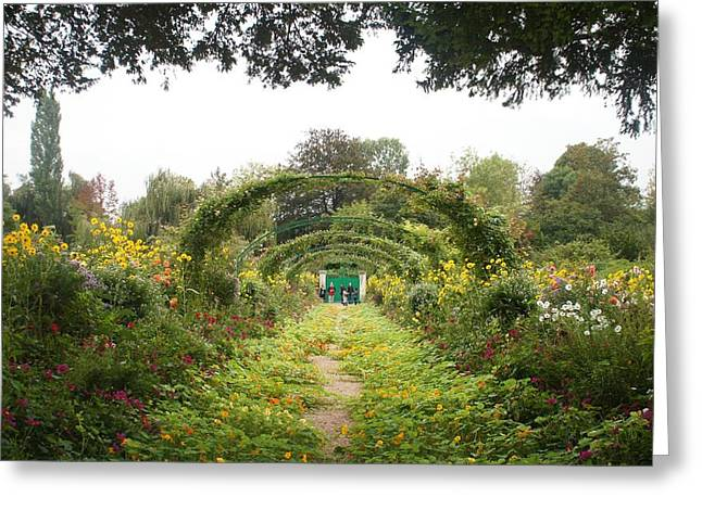 Monet's Garden Giverny Greeting Card by Kristine Bogdanovich