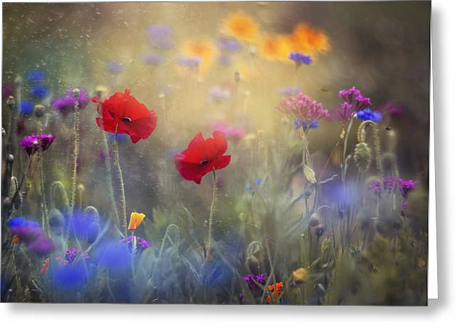 Monet's Garden I Greeting Card by Magda  Bognar