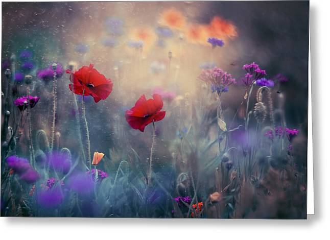 Nature Greeting Cards - Monets Garden II Greeting Card by Magda  Bognar