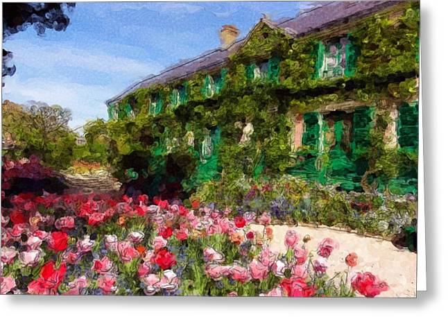 Water Lilly Pastels Greeting Cards - Monets Home - Giverny Greeting Card by Jarvis Noble
